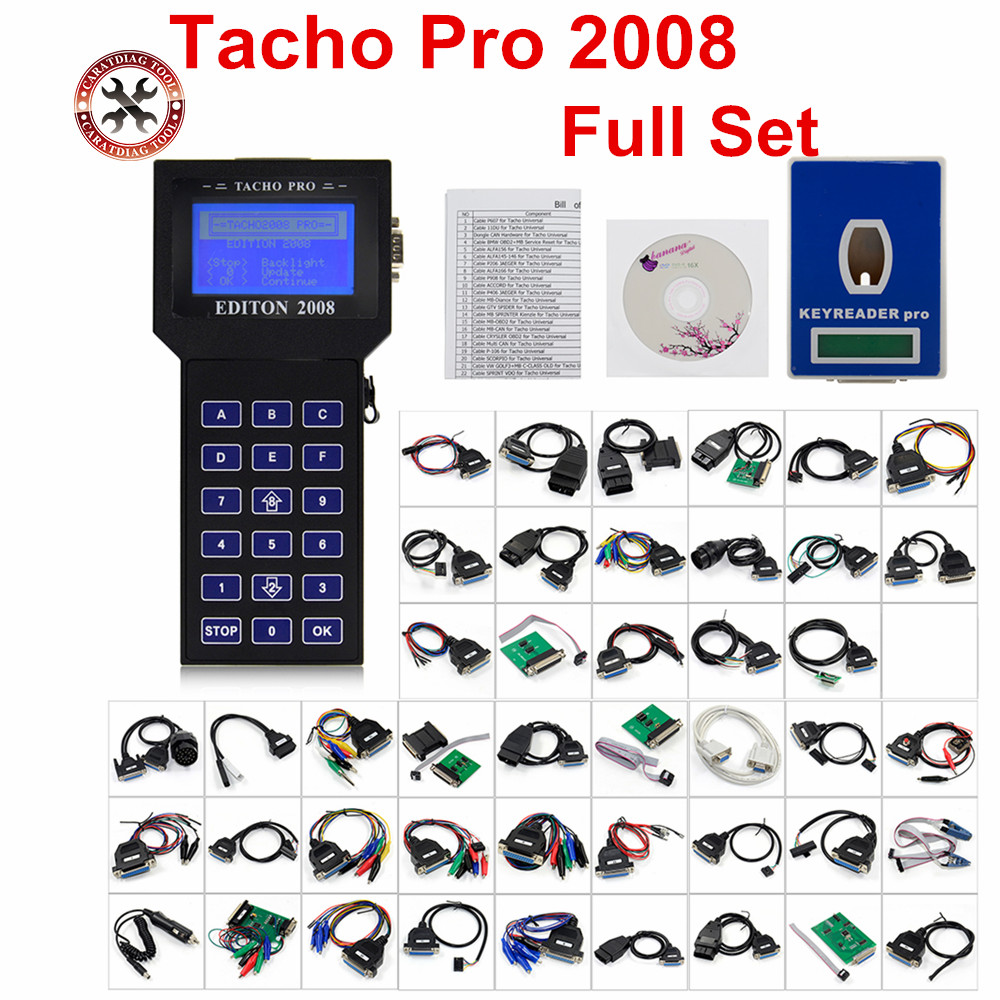 2018 Hot Selling TACHO PRO 2008 Main unit Unlock Version July Odometer Correction Tacho pro 2008