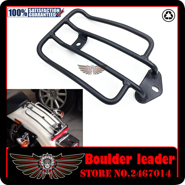 Chrome Steel Painted Motorcycle Luggage Carrier Support Shelf Frame ...