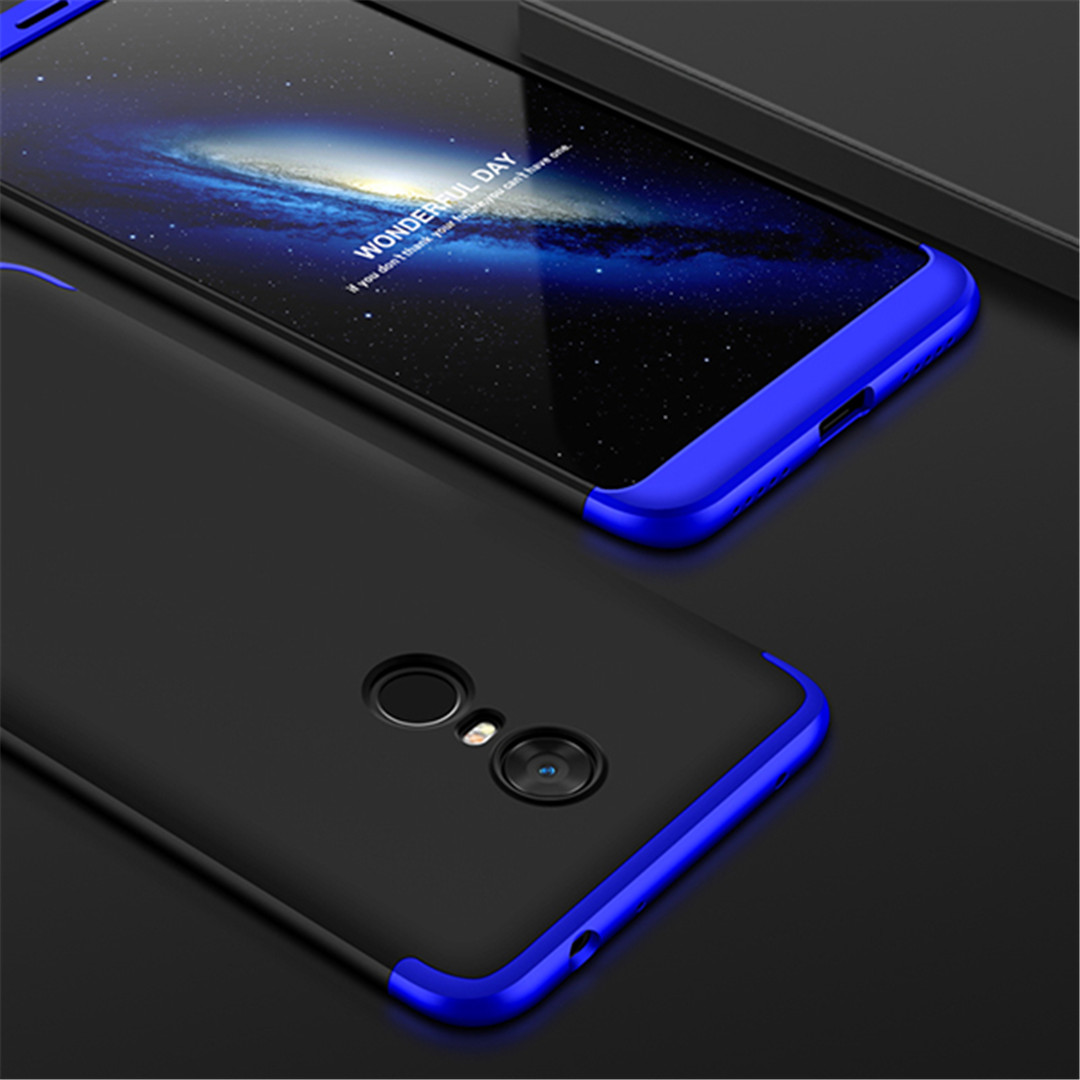 360 Degree Full Protection Case For Xiaomi Redmi 4X 6 5 5A 5Plus Matte Hard PC 3 In 1 Cases For Redmi Note 4X 5Pro Capa