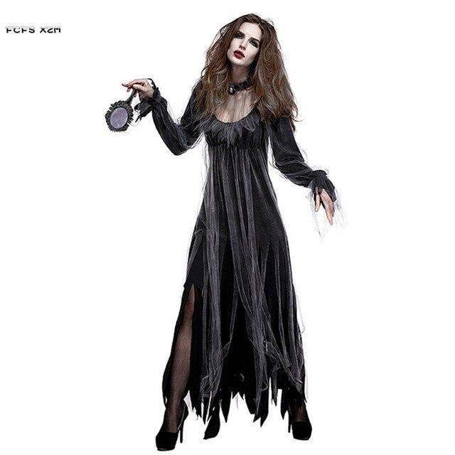 woman ghost zombie walking dead corpse bride scary cosplays halloween vampire costumes carnival purim nightclub bar