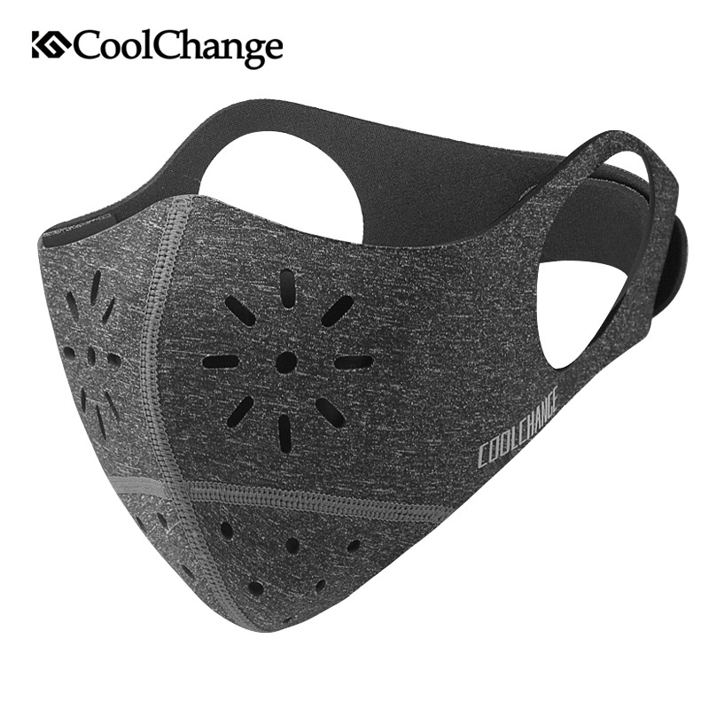 CoolChange Cycling Face Mask Cover Bike Anti-dust Breathable Mask PM 2.5 Protection Mouth-Muffle Soft Bicycle Training Mask coolchange 20006 cycling thicken fleeces face mask hat scarf black