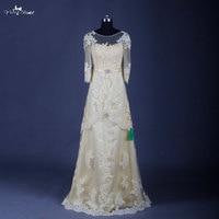 Rse630 Длинные рукава Кружево платье подружки невесты Реальный образец желтый страна Подружкам невесты