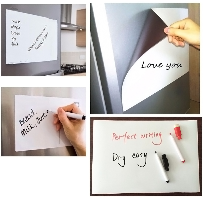 Home Flexible Size A3 Magnetic Whiteboard Fridge Kitchen Home Office  Reminder Magnet Dry Erase Board White Boards LS In Fridge Magnets From Home  U0026 Garden On ...