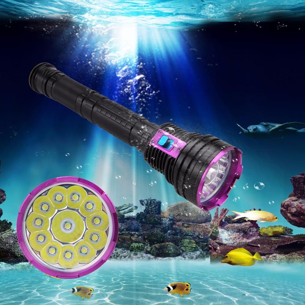 VASTFIRE Submarino 100 m Linterna de buceo Impermeable 5000lm 12X T6 - Iluminación portatil - foto 2