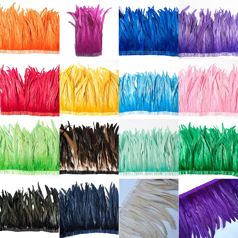 Price of 5 Yard Rooster coque tail Feather Trim 10 12 12 14 14 16 16