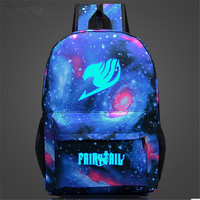 Fairy Tail Backpack Japan Anime Printing School Bags For Teenagers Cartoon Travel Bag Nylon Sports Mochila