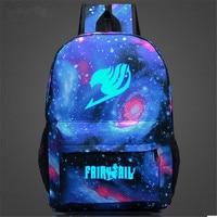 Fairy Tail Backpack Japan Anime Printing School Bags For Teenagers Cartoon Travel Bag Nylon Sports Mochila