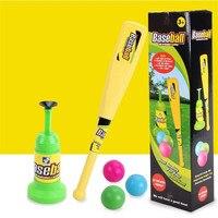 Enfants jouets amusants jeux de Plein Air Pop Up Batting Practice Baseball Lancer Machine Swing Entraîneur Softball Presse Ne