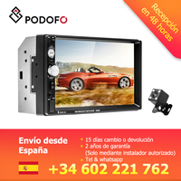 Podofo 7 2DIN car radio Backup Monitor MP5 Touch Screen Digital Display Bluetooth FM Autoradio Multimedia Player Audio Radio