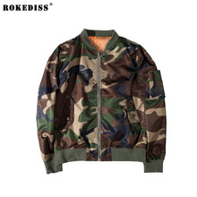High Quality Nylon Camouflage Bomber Jacket Men Casual Male Camo Air Force Fly Flight Jacket Windproof Waterproof Coats TC564