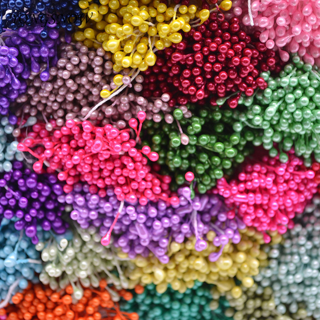 250 Cái/lốc 3 mét Mini Hoa Nhị Hoa Nhân Tạo Nhị Handmade TỰ LÀM Vòng Hoa Wedding Party Chủ Trang Trí Scrapbooking Thủ Công Mỹ Nghệ 8z