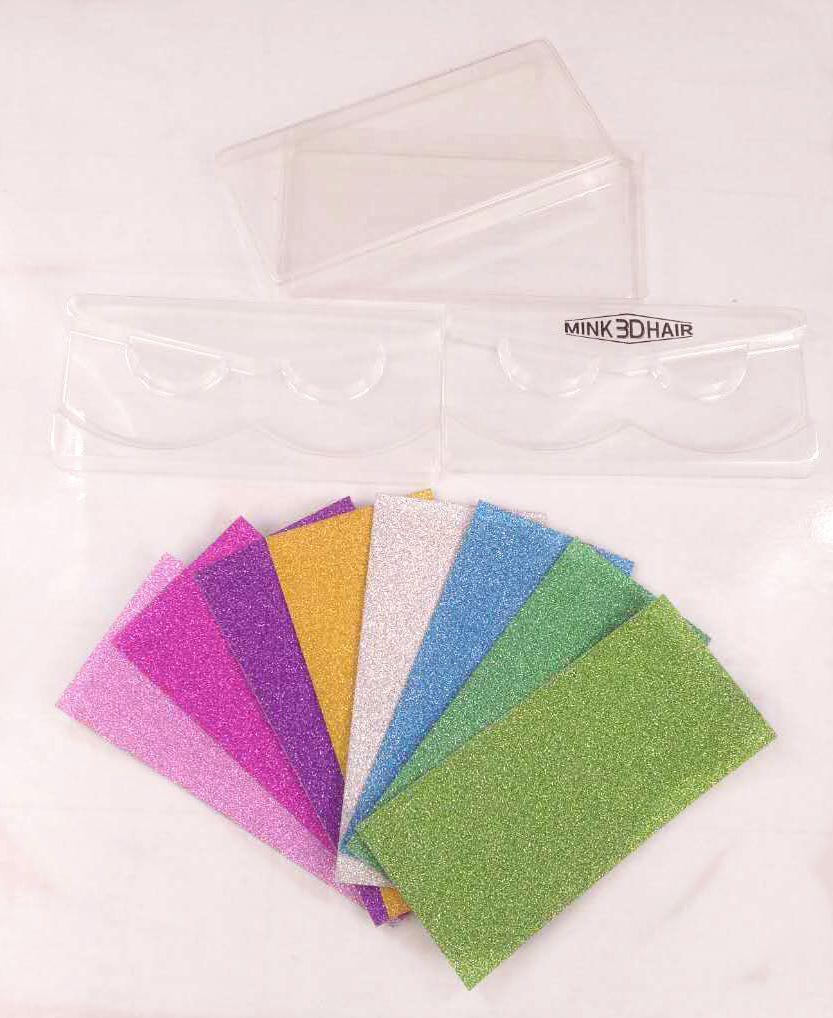10set/lot Square Packing box for eyelash blank eyelashes plastic package all transparent lid tray Eyelashes DIY soft packing box(China)