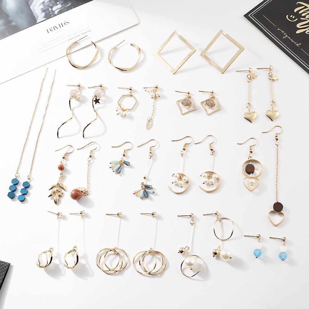 Vintage Statement Tassel Drop Earrings for Women 2020 Fashion Jewelry Korean Metal Geometric Hanging Dangle Piercing Brincos