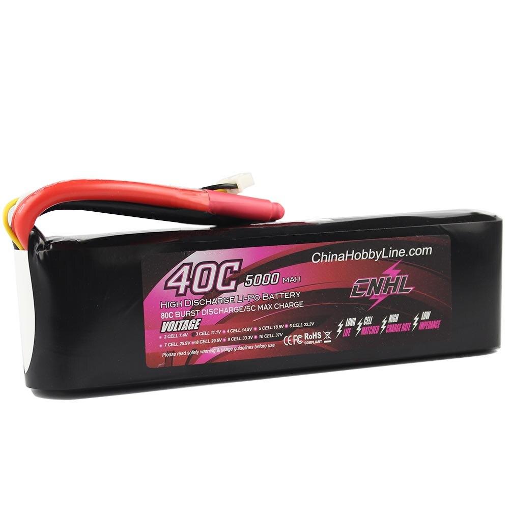 все цены на CNHL LI-PO 5000mAh 11.1V 40C(Max 80C) 3S Lipo Battery Pack for RC Hobby free shipping онлайн