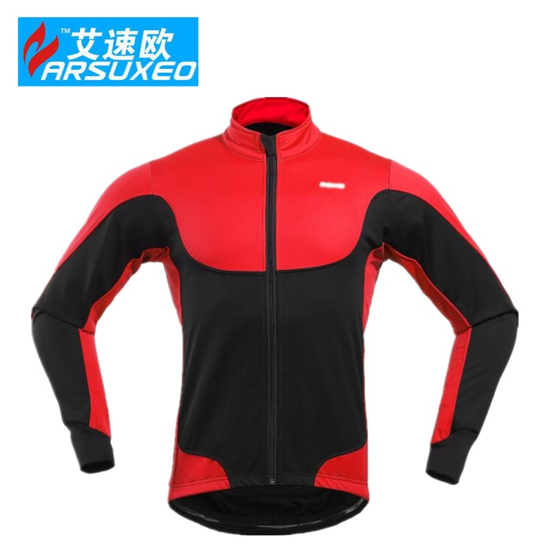 ARSUXEO Cycling Jacket Winter Thermal Warm Up Fleece MTB Bike Light Weight Windproof cycling clothes china bicicleta Coat