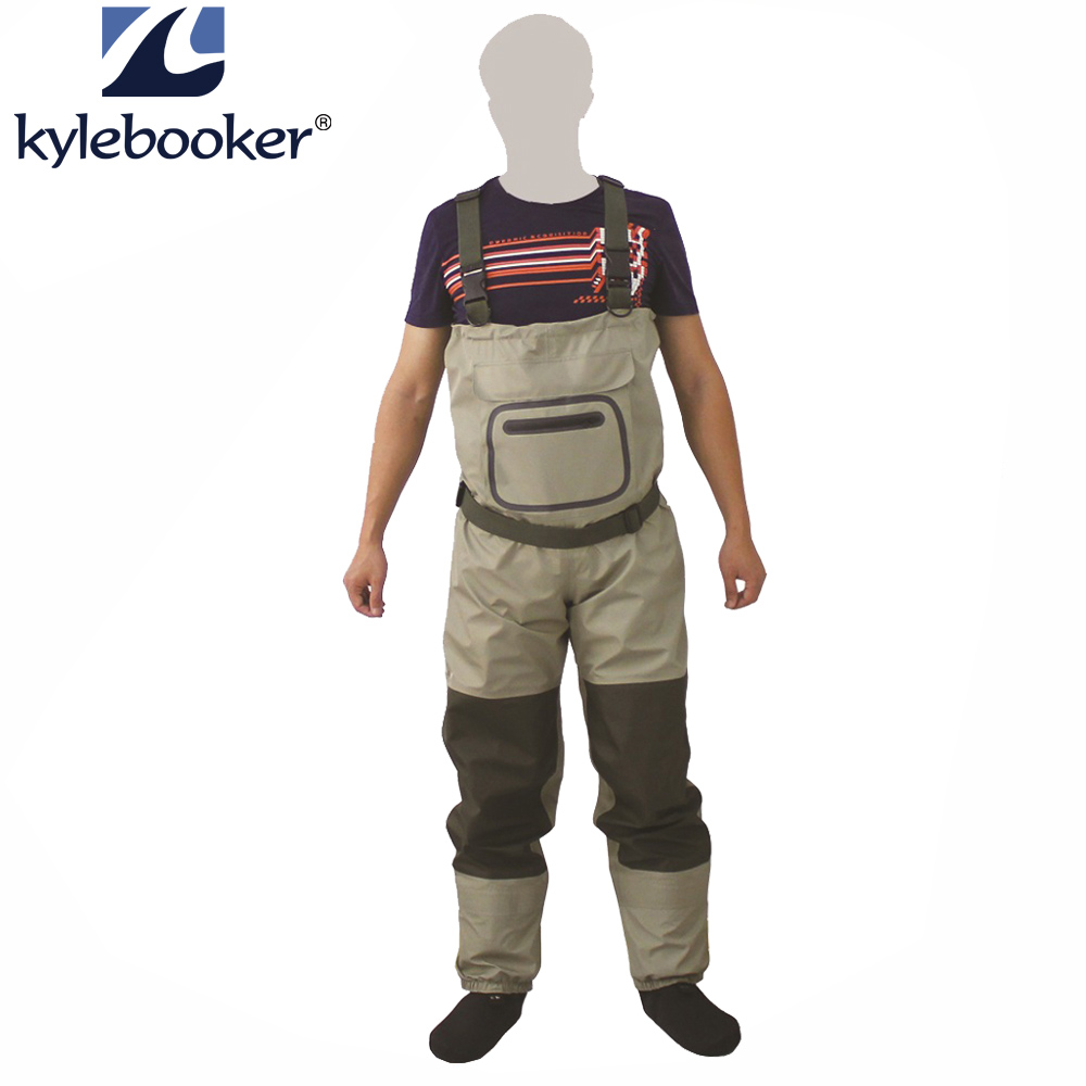 New Fly Fishing Stocking Foot Chest Waders Affordable Rafting wear Breathable Waterproof Chest Wader Overalls ...