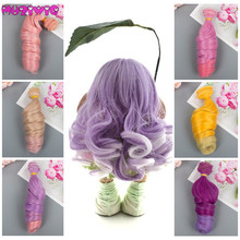1pc 15cm Hair Extension Heat Resistant Synthetic Roman Curly Piece for BJD/Blyth/American All Dolls DIY Doll Wigs