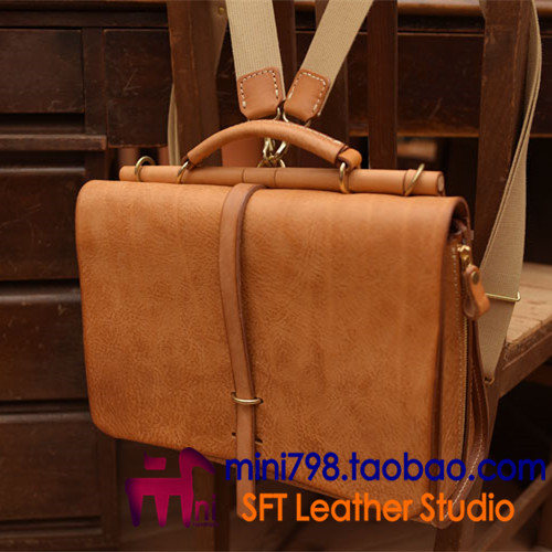 6d8726352e4dd Ręcznie robione wyroby skórzane torby skórzane teczki biurowe torba  Podmiejskich torba rysunek MINI wersji papierowej papierowej torbie w  wersji BXK 43 w ...
