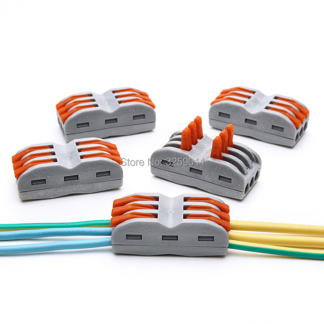 1pcs suyep compact splicing wire connector 28 12 awg spl 3 222 413 rh aliexpress com Electric Connectors for Electrical Wires Small Electrical Wire Connectors