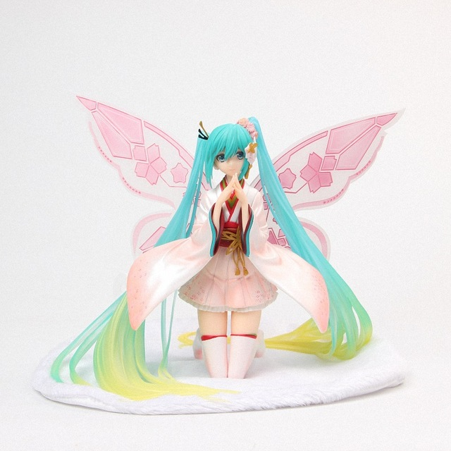 2019 NEW 20cm Racing 2017 Miku Hatsune Miku GT Ver. Fairy angel Butterfly PVC Action Figure By Tony Collectible Model Toys