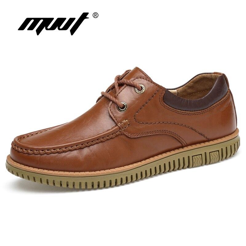 MVVT Одежда высшего качества обувь из натуральной кожи Для мужчин повседневная обувь Лоферы без застежки Для мужчин Туфли без каблуков осень ...