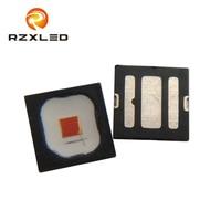 50PCS/Lot OSLON Black Flat LUW Red617nm 620nm 625nm 630nm LR H9PP 3W Diode For Automotive Illumination