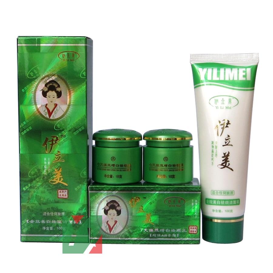 velkoobchodní a maloobchodní prodejna yilimei 7-denní bělící a odstraňující skvrna A + B krém na obličejové čističe 3ks / set 4set / lot