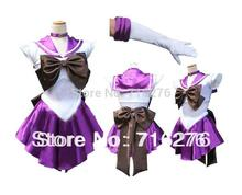 Новый Аниме Довольно Солдат Сейлор Мун Сейлор Сатурн японского аниме косплей костюм женский Halloween Party Любой Размер