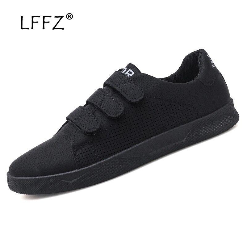 LFFZ Hook Loop Sneakers Men Fashion Design Breathable Men Casual Shoes High Quality Men Vulcanize Shoes Durable Men Shoes