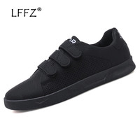 LFFZ Hook Loop Sneakers Men Fashion Design Breathable Men Casual Shoes High Quality Men Vulcanize Shoes Durable Men Flat Shoes