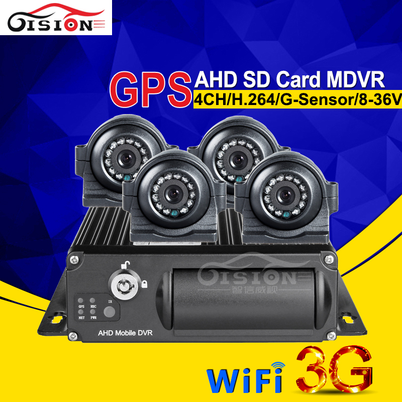 Outdoor Waterproof IR AHD Camera Car Recorder Kits Wifi Real Time GPS Tracking 24H 3G Mobile Dvr Video Recorder Software free