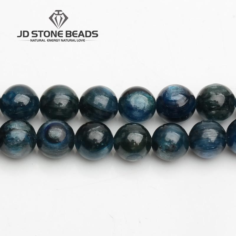JD Stone Beads Free Shipping Natural Blue Kyanite Beads Semi-Finished Handmade Bracelet Beads Gem Accessory