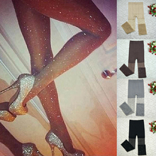 Fashion Womens Tights Pantyhose Lady Solid Seamless Sexy Nylons High Elasticity Female Colored Diamonds Crytal Stockings