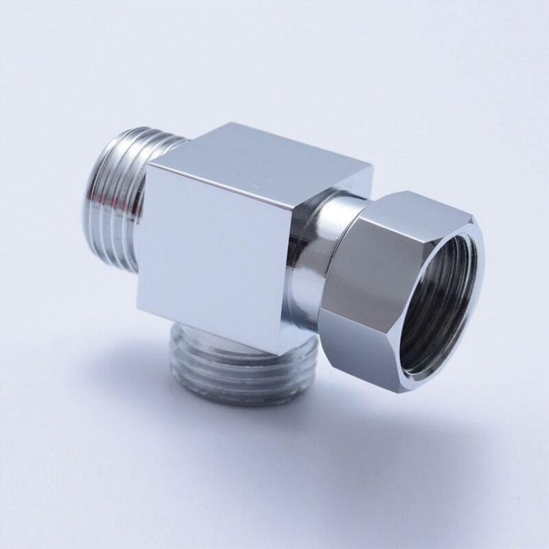 Shower Arm Diverter 3 Way Brass Chrome Diverter Water Separator Brass W/ Chromed Plating G1/2