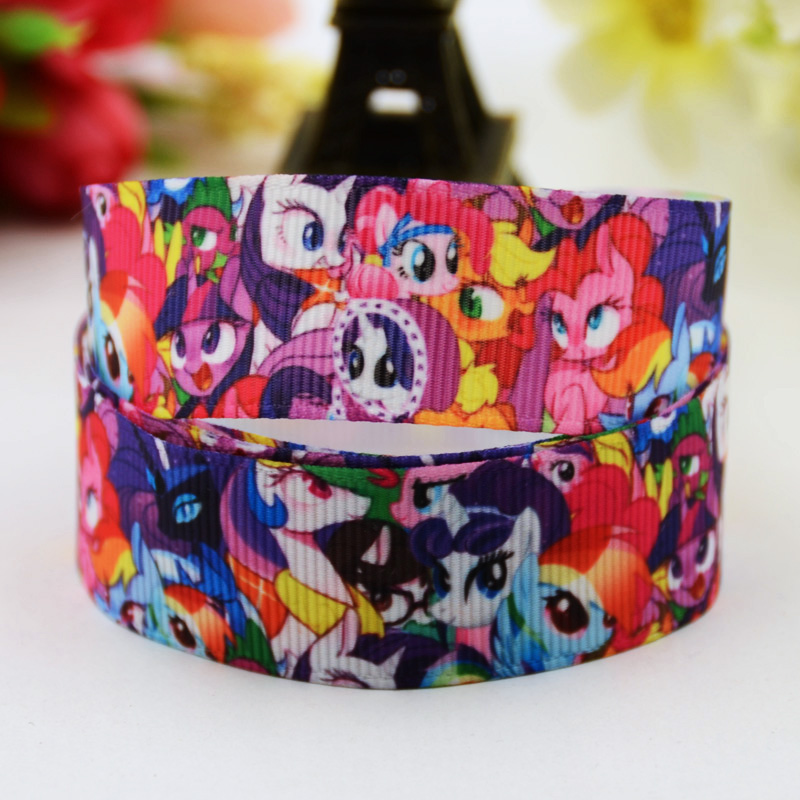 22mm Latest Collection Of 7/8 Cartoon Character Printed Grosgrain Ribbon Party Decoration Satin Ribbons Oem 10 Yards X-00611