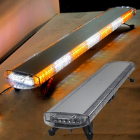 HEHEMM 46 96W 96 LED Strobe Flash Warning Light Bar Safety Emergency Beacon for Car Trucks Caravan 4 X 4 Vehicles 12V/24V