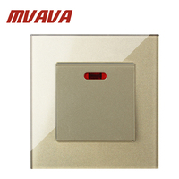 MVAVA 20A Switch With Neon High Power Conmutador Kitchen Water Heater Push Button Wall Switch Air