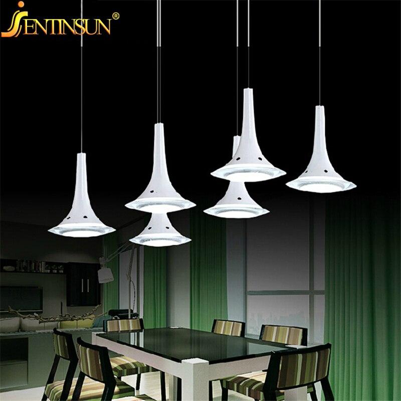 2016 White 6*3W LED Pendant Lamp Modern Morning Glory Shape Vintage Lamps Light for Bar Restaurant Bedrooms Muuto Art Lights
