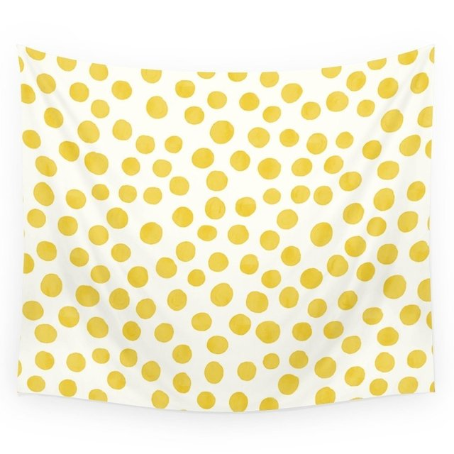 Yellow Polka Dots Wall Tapestry Wall Hanging Tapestry for Home Psychedelic Bedspread Art Carpet 4 Sizes-in Tapestry from Home & Garden on ...