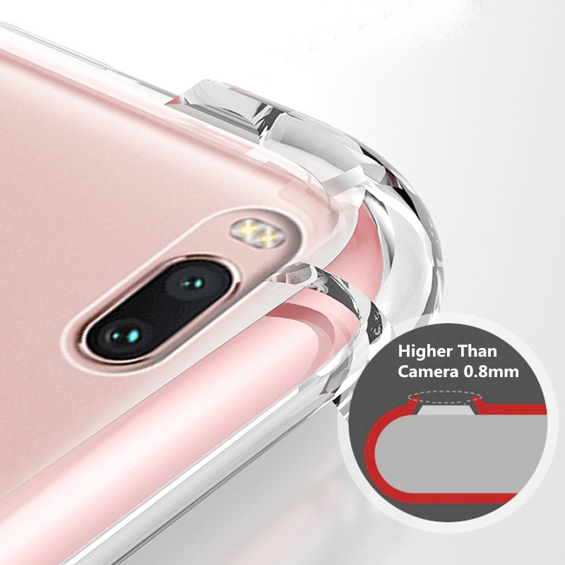 Anti Knock Clear Back Phone Case For HTC Desire 19 Plus 19 Transparent Soft TPU Cover in Fitted Cases from Cellphones Telecommunications