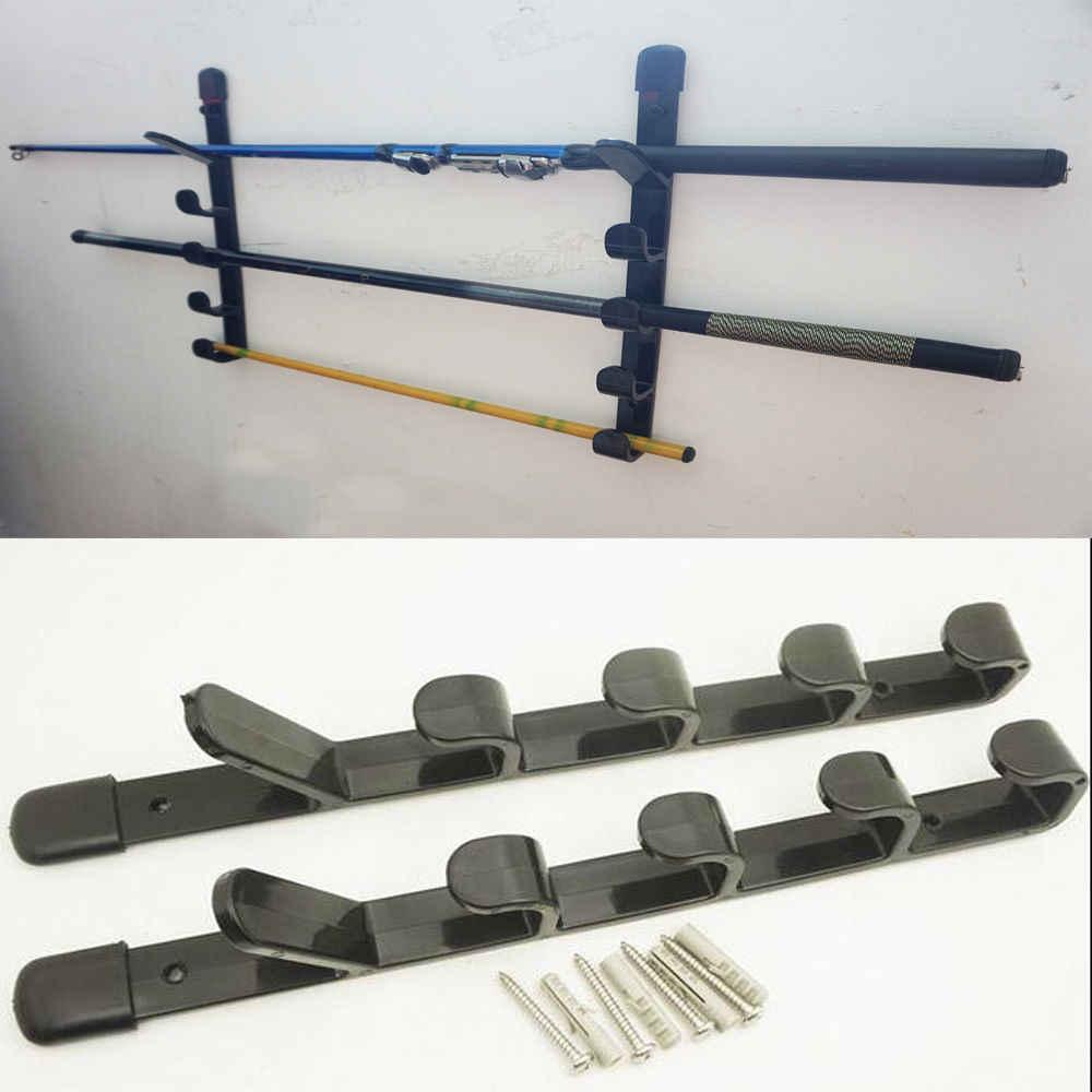 free shipping horizontal fishing rod rack fishing rod holder fishing pole storage pole holder 2 pk no fishing rod
