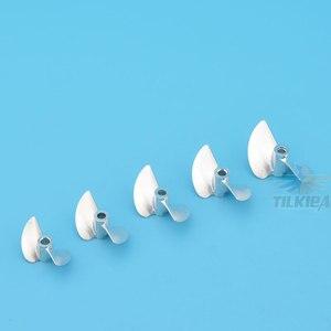 Image 4 - Cnc Aluminium Propeller Metalen Schroef 2 Blades Prop Legering Schroef 430/32/33/34/35/36/37/38/39/40/41/42/43/44/45 Mm voor 4 Mm Prop As
