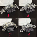 Women Bridal Wedding Silver Crystal Diamante Rhinestone Pearl Flower Butterfly Hair Combs Hair Accessories Headwear Bride Tiara