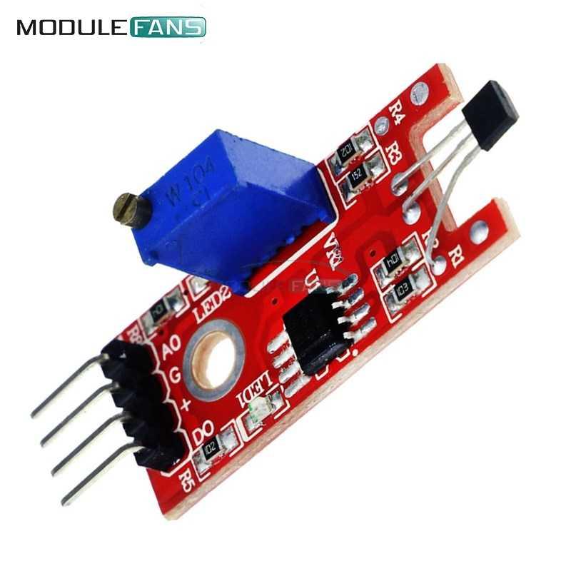 4pin 4P KY-024 interrupteurs linéaires magnétiques à Hall Module de capteur de comptage de vitesse pour Arduino Kit de démarrage bricolage