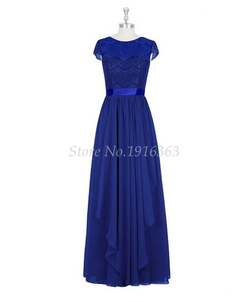 ANTI 2017 A-Line Royal Blue   Bridesmaid     Dresses   Plus Size Vestido De Festa De Casamento Chiffon Long Party   Dress   Formal Gowns