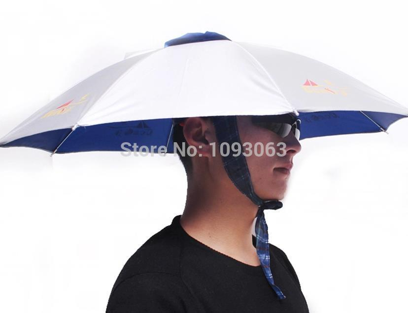 Umbrella Hat Cap for Fishing Camping Foldable Sun Rain UV Protection  Folding Fishing Equipment-in Umbrellas from Home   Garden on Aliexpress.com   0fb3116143c