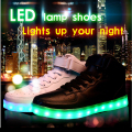 8 Colors Big Size 2016 USB Charging Men LED Luminous Shoes Glowing Hightops Zapatillas Emitting Lights Zapatillas Deportivas