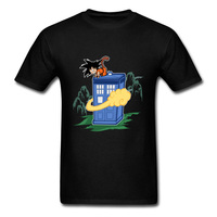 Um Novo Flying Cloud Ônibus Homens T-shirt Engraçado Dos Desenhos Animados Dragon Ball Doctor Who Box Polícia Imprimir Manga Curta T-shirt Adultos