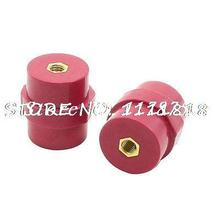 SM30 8KV Withstand Voltage 6mm Dia Thread 30mm High Busbar Insulators 2Pcs