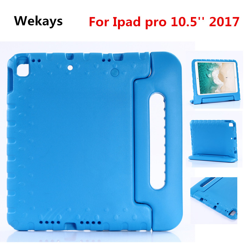 For Apple iPad Pro 10.5 EVA Foam Shockproof Case for iPad Pro 10. 52017 Funda Coque Children Kids Handle Stand Protective Cover shockproof kids children save protective